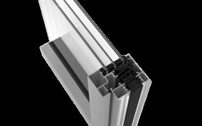 Ventanas de aluminio hoja oculta Serie RS-70 HO